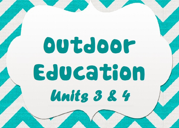 VCEasy Outdoor Education Booklet Units 3 and 4 BANNER